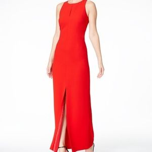 NWT Calvin Klein Red High Slit Formal Long Gown 4